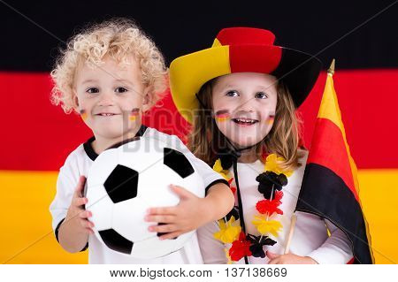 Happy Kids, German Football Supporters