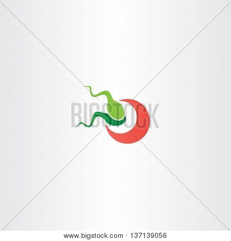Fertilization Sperm And Egg Cell Logo Vector Icon