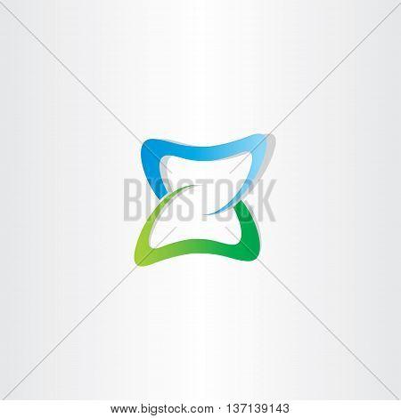 Green Blue Logotype Z Letter Z Vector Icon