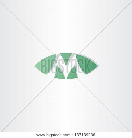 Green Logotype M Letter M Vector Logo Sign
