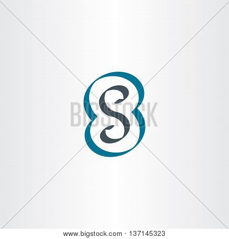 Letter S Or Number 8 Eight Logo Icon Vector