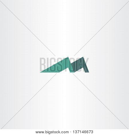 logo mountain letter m icon symbol illustration element