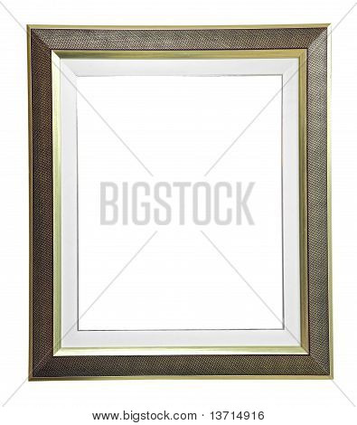 Isolated Blank Modern Frame On White