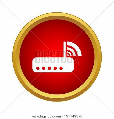 Router icon in simple style on a white background