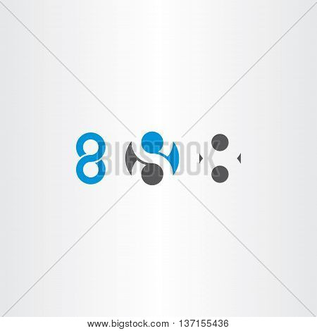 Number 8 Eight Sign Vector Symbol Set