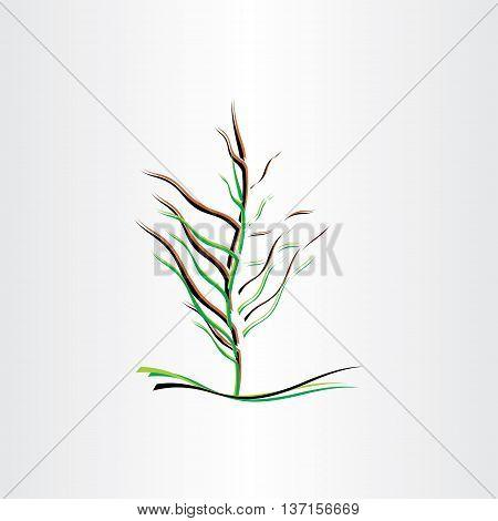 stylised tree vector illustration design icon element