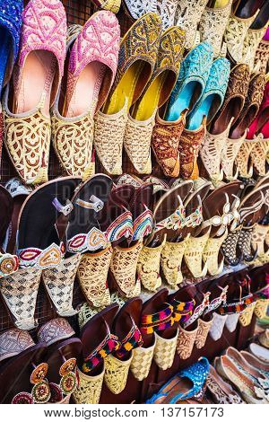 Colorful Shoes In Souk Dubai