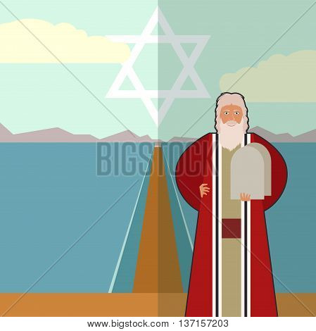 Vector image of the moses Jew Banner
