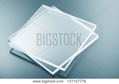 Samples of bulletproof glass