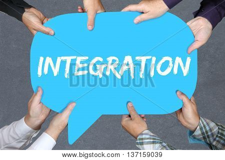 Group Of People Holding Integration Immigrants Refugees Immigrant Refugee