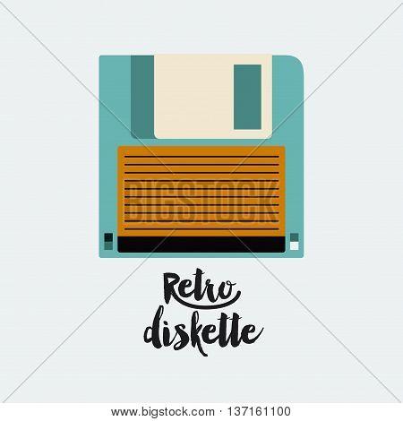 retro floppy  poster isolated icon design, vector illustration  graphic