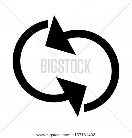 simple flat design refresh circular arrows icon vector illustration