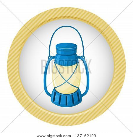 Kerosene lamp icon. Vector illustration in cartoon style