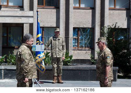 President Of Ukraine Petro Poroshenko Has Awarded The Soldier
