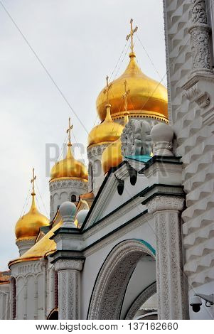 Annunciation church of Moscow Kremlin. UNESCO World Heritage Site. Color photo.