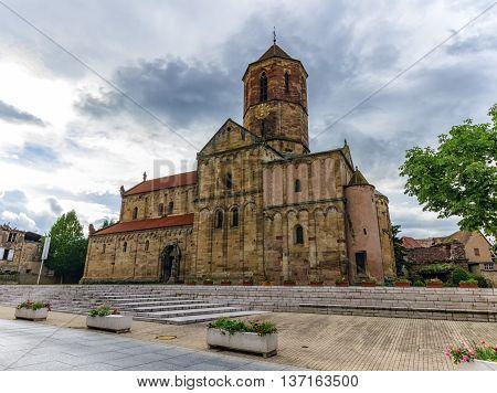Saints-Pierre-et-Paul church by day, Rosheim, Alsace, France