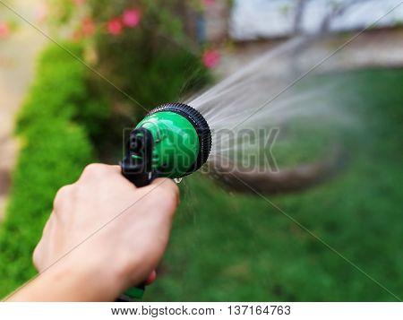 Garden Hose And Spray Gun