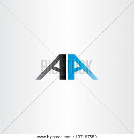 Double Letter A Vector Aa Logo Icon