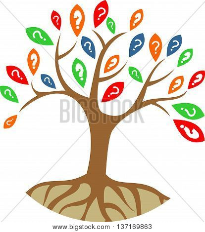 stock logo abstract question tree search answer