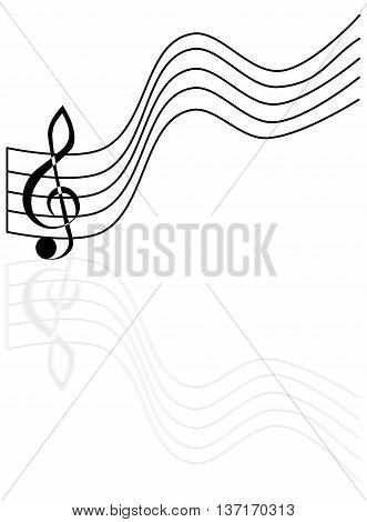treble clef , stave and treble clef,