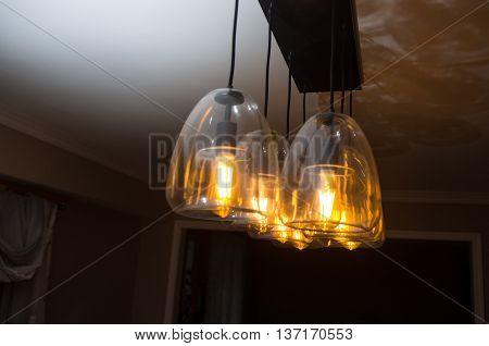Decorative antique hanging style filament light bulb