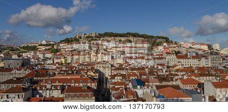 Lisbon Overview Of The Castle