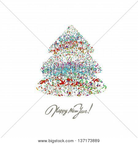 Christmas background with colorful splash. A vector.