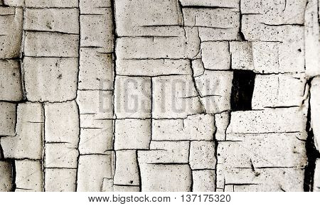 Cracked Paint Grunge Wall Abstract Fine Art Wall Photograph