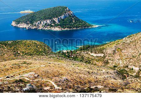 italy sardinia landscape figaroli island cala moresca