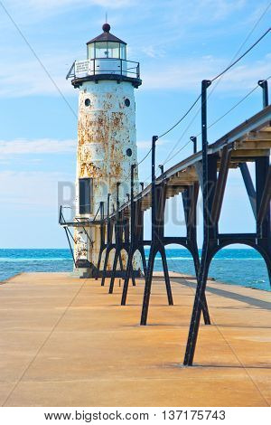 Lake Michigan Lighthouse in Manistee Michigan