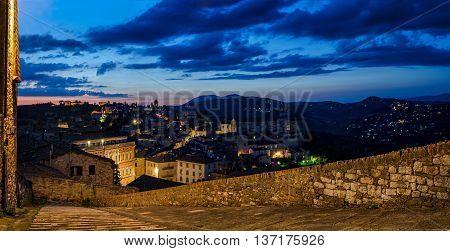 Perugia (Umbria Italy) view from Porta Sole