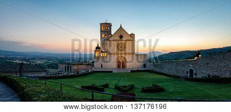 Assisi Basilica di San Francesco (high definition panoramic)