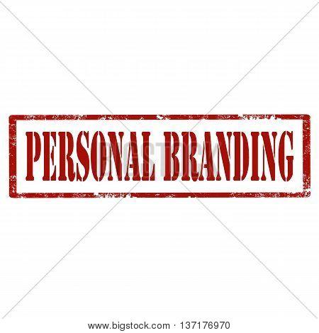 Grunge rubber stamp with text Personal Branding,vector illustration