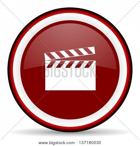 video round glossy icon, modern design web element
