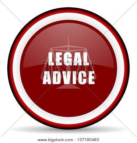 legal advice round glossy icon, modern design web element