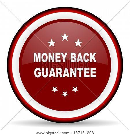 money back guarantee round glossy icon, modern design web element