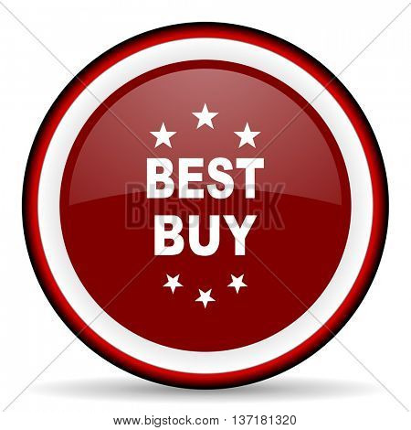 best buy round glossy icon, modern design web element