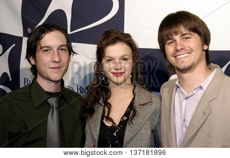 Chris Marquette, Amber Tamblyn and Jason Ritter at the Big Brothers Big Sisters of greater Los Angeles 'Rising Stars' 2004 Gala at the Beverly Hilton Hotel in Beverly Hills, USA on November 11, 2004.