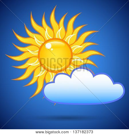 The Sun And A Cloud In The Sky