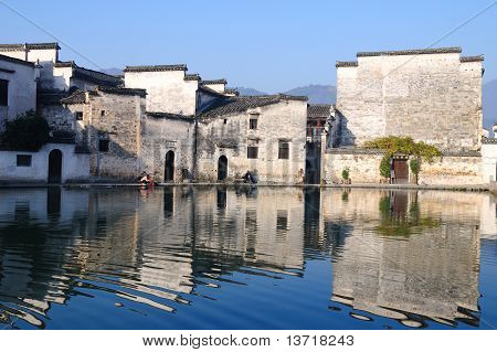 Old House Of Old Village In Hongcun China