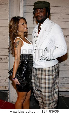 Will.i.am and Tila Tequila at the Maxim's 2008 Hot 100 Party held at the Paramount Studios in Hollywood, USA on May 21, 2008.