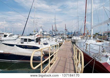 Yachts In The Port Of Odessa, Ukraine