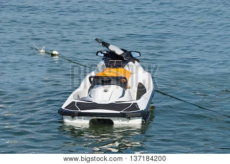 A Hydrocycle On The Sea