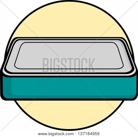 closed rectangular can