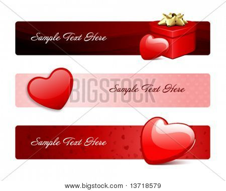 Valentine's day banners or backgrounds set 18