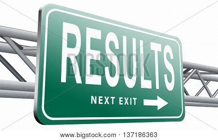 results and succeed business success be a winner in business elections pop poll or sports market result  3D illustration, isolated on white background