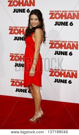 Jenna Dewan at the World premiere of 'You Don't Mess With The Zohan' held at the Grauman's Chinese Theater in Hollywood, USA on May 28, 2008.