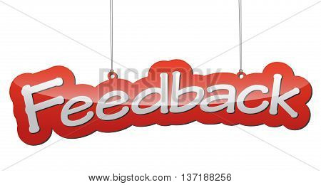 This is red vector illustration background feedback