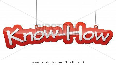 This is red vector illustration background know how