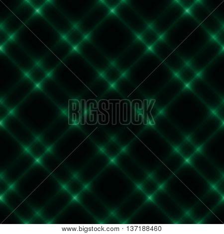 Glowing green stylish fantasy seamless pattern background